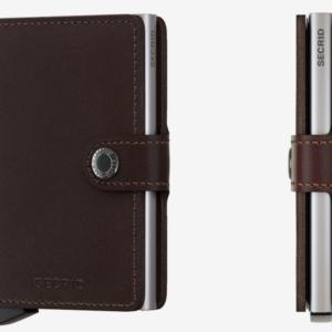 Porte cartes marron foncé Secrid - Miniwallet Original Dark Brown