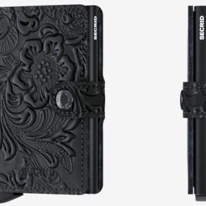 Porte cartes motif noir Secrid – Miniwallet Ornament Black